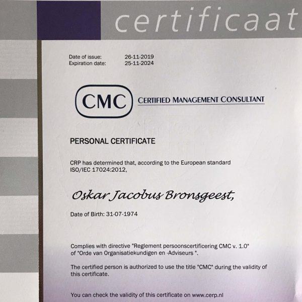 Hernieuwd gekwalificeerd als Certified Management Consultant (CMC)